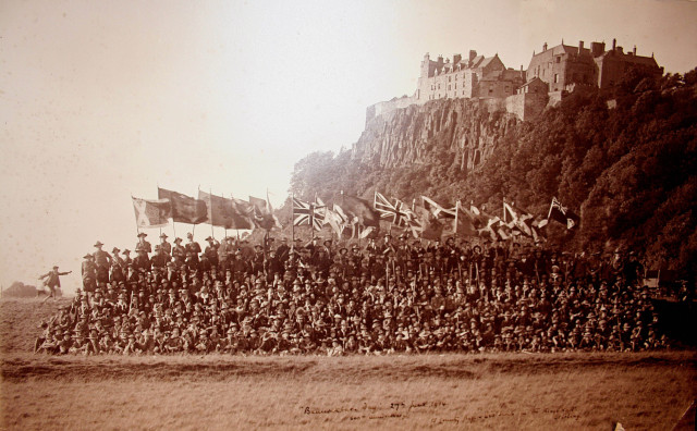 scouts at kings knott for bannockburn day 1914
